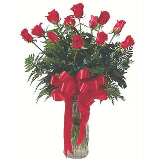 12 adet gül cam içerisinde  Bursa çiçek ucuz çiçek gönder