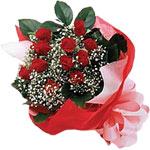 Bursa çiçek siparişi  KIRMIZI AMBALAJ BUKETINDE 12 ADET GÜL