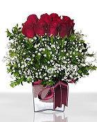 Bursa çiçek büyük orhan yurtiçi ve yurtdışı çiçek siparişi  11 adet gül mika yada cam - anneler günü seçimi -