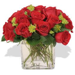 Çiçekçi Bursa sitesi inegöl çiçek mağazası , çiçekçi adresleri  10 adet kirmizi gül ve cam yada mika vazo