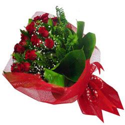 Bursa çiçek yenişehir çiçekçi mağazası  12 adet kirmizi essiz gül buketi - SEVENE ÖZEL