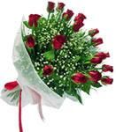 Bursa çiçek siparişi  11 adet kirmizi gül buketi sade ve hos sevenler
