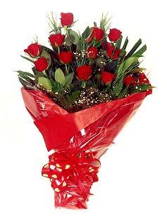 12 adet kirmizi gül buketi  Çiçekçi bursa çiçek firması