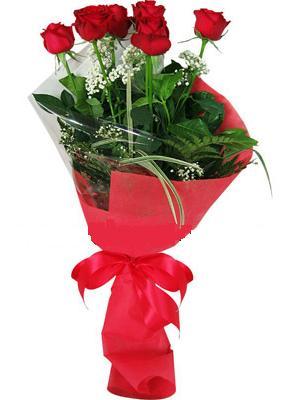 7 adet kirmizi gül buketi  Bursa çiçek orhangazi internetten çiçek siparişi