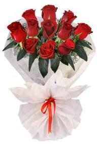 11 adet gül buketi  Bursadaki çiçekçi bursaya çiçek  kirmizi gül