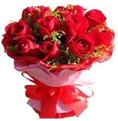 9 adet kirmizi güllerden kipkirmizi buket  Çiçekçi bursa çiçek firması