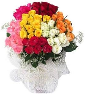 Çiçekçi Bursa sitesi inegöl çiçek mağazası , çiçekçi adresleri  51 adet farklı renklerde gül buketi