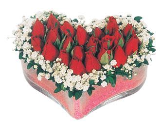Çiçekçi Bursa sitesi inegöl çiçek mağazası , çiçekçi adresleri  mika kalpte kirmizi güller 9
