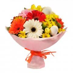 Karışık mevsim buketi Mevsimsel çiçek  Bursadaki çiçekçi bursaya çiçek