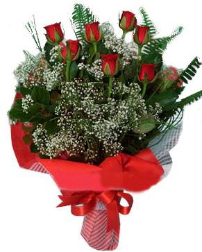 7 kırmızı gül buketi  Çiçekçi Bursa sitesi osmangazi internetten çiçek satışı