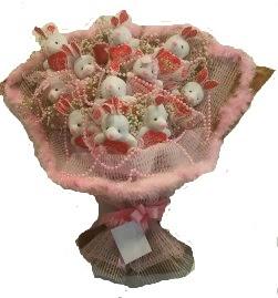 12 adet tavşan buketi  Bursa çiçek mustafa kemal paşa çiçek siparişi sitesi