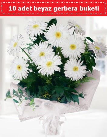 10 Adet beyaz gerbera buketi  Bursa çiçek büyük orhan yurtiçi ve yurtdışı çiçek siparişi