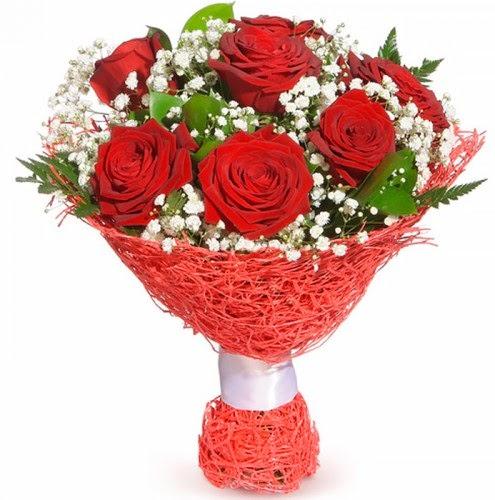 7 adet kırmızı gül buketi  Çiçekçi bursa çiçek firması