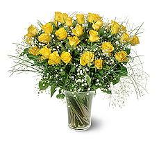 Online Bursa çiçekçi  15 adet sarigül mika yada cam vazoda
