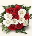 Bursa çiçek büyük orhan yurtiçi ve yurtdışı çiçek siparişi  10 adet kirmizi beyaz güller - anneler günü için ideal seçimdir -