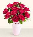 Bursa çiçek satışı Bursa çiçek yolla   10 kirmizi gül cam yada mika vazo tanzim