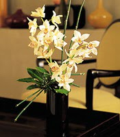 Çiçekçi bursa çiçek firması  cam yada mika vazo içerisinde dal orkide