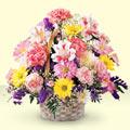 Bursadaki çiçekçi nilüfer hediye çiçek yolla  sepet içerisinde gül ve mevsim