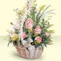 Çiçekçi Bursa sitesi gemlik güvenli kaliteli hızlı çiçek  sepette pembe güller