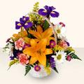 Çiçekçi Bursa sitesi gemlik güvenli kaliteli hızlı çiçek  sepet içinde karisik çiçekler