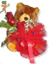 oyuncak ayi ve gül tanzim  Çiçekçi bursa çiçek firması
