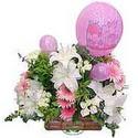 balon ve çiçeklerle tanzim  Bursa çiçek siparişi