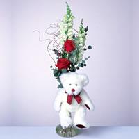 2 adet gül ve panda özel  Bursa çiçek siparişi