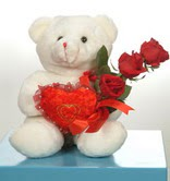3 adetgül ve oyuncak   Bursa çiçek siparişi inegöl çiçek servisi , çiçekçi adresleri