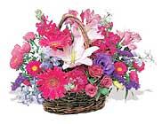 küçük karisik özel sepet   Bursa çiçekçiler orhaneli çiçekçiler