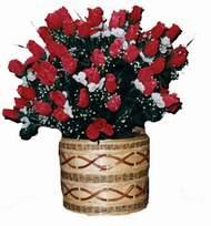 yapay kirmizi güller sepeti   Bursa çiçek yenişehir çiçekçi mağazası