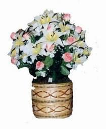 yapay karisik çiçek sepeti   Çiçekçi Bursa sitesi osmangazi internetten çiçek satışı