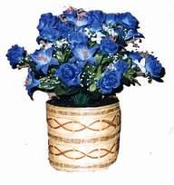 yapay mavi çiçek sepeti  Bursa çiçek ucuz çiçek gönder