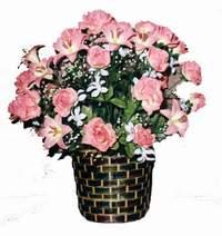 yapay karisik çiçek sepeti  Bursa çiçekçiler orhaneli çiçekçiler