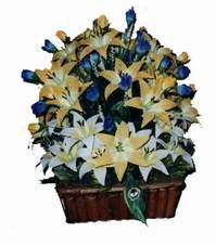 yapay karisik çiçek sepeti   Bursa çiçek iznik çiçek online çiçek siparişi