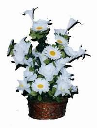 yapay karisik çiçek sepeti  Bursa çiçek karacabey çiçekçi telefonları