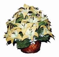 yapay karisik çiçek sepeti   Online Bursa çiçekçi