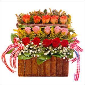 sandikta 3 kat güllerden   Bursa çiçek ucuz çiçek gönder