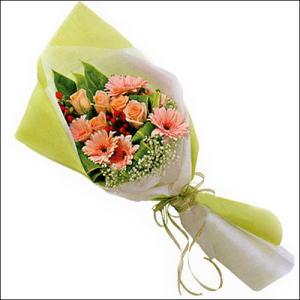 sade güllü buket demeti  Bursa çiçek siparişi