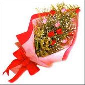 12 adet renkli  gül buketi   Bursa çiçek siparişi