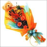 ayicik gül ve kir çiçekleri   Bursa çiçek siparişi