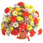 karisik renkli çiçek sepet   Çiçekçi Bursa sitesi nilüfer anneler günü çiçek yolla