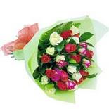 12 adet renkli gül buketi   Çiçekçi Bursa sitesi nilüfer anneler günü çiçek yolla