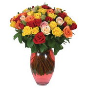 51 adet gül ve kaliteli vazo   Çiçekçi Bursa sitesi nilüfer anneler günü çiçek yolla