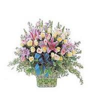 sepette kazablanka ve güller   Bursa çiçek iznik çiçek online çiçek siparişi