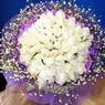 71 adet beyaz gül buketi   Bursa çiçek büyük orhan yurtiçi ve yurtdışı çiçek siparişi