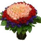 71 adet renkli gül buketi   Bursa çiçek yolla osmangazi online çiçekçi , çiçek siparişi