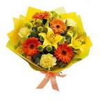 Bursa çiçek büyük orhan yurtiçi ve yurtdışı çiçek siparişi  orta boy  buket demetlik - karisik buket anneler günü  için -