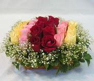 15 adet reprenkli gül sepeti   Bursa çiçek satışı iznik hediye sevgilime hediye çiçek