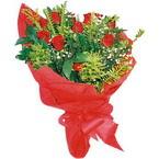 10 adet kirmizi gül buketi  Bursa çiçek satışı iznik hediye sevgilime hediye çiçek