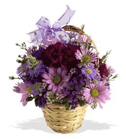 Bursadaki çiçekçi nilüfer hediye çiçek yolla  sepet içerisinde krizantem çiçekleri